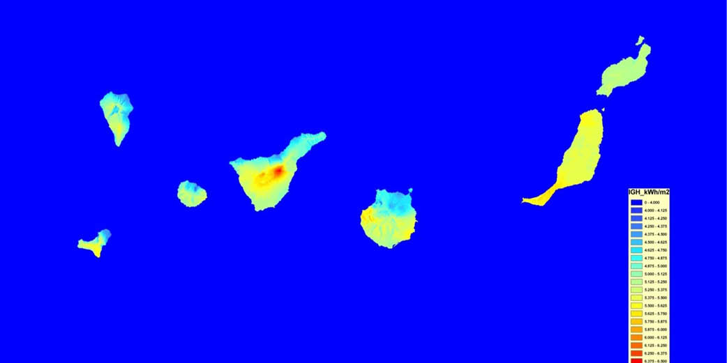 Canaries Solar Map