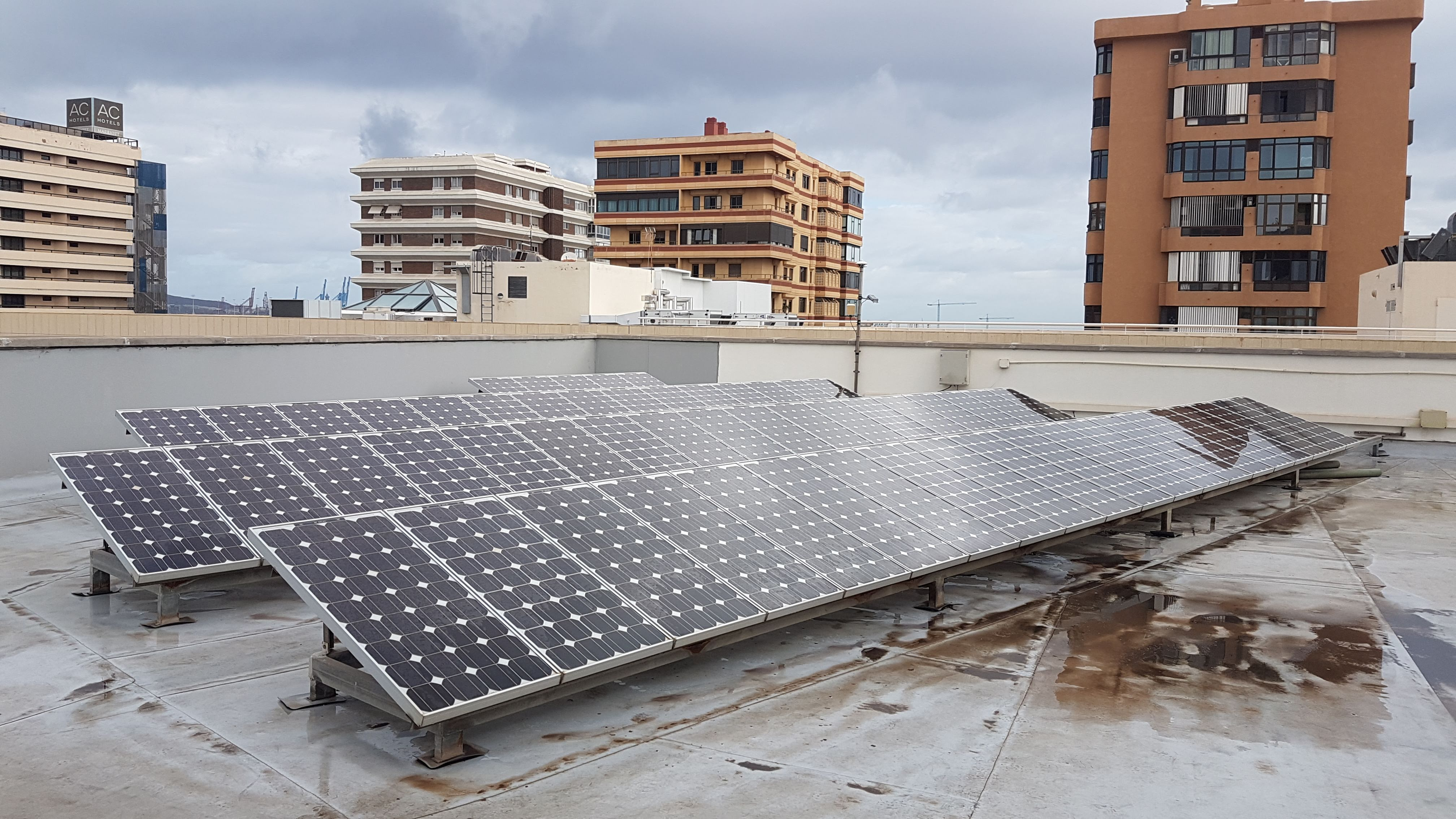 First domestic solar plants co